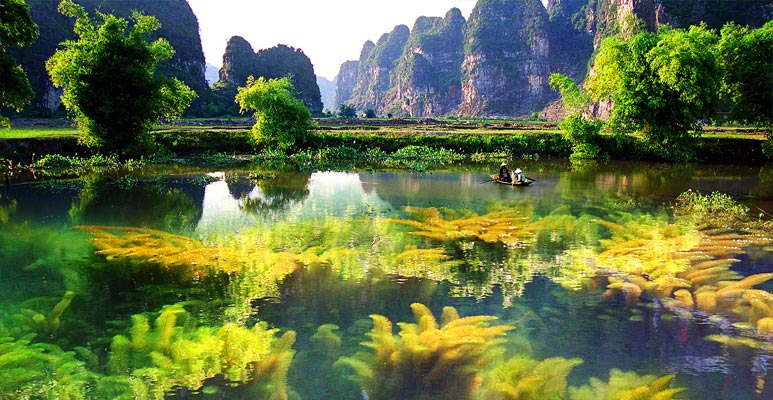 Van Long wetland reserve Ninh Binh Tourist Center Vietnam