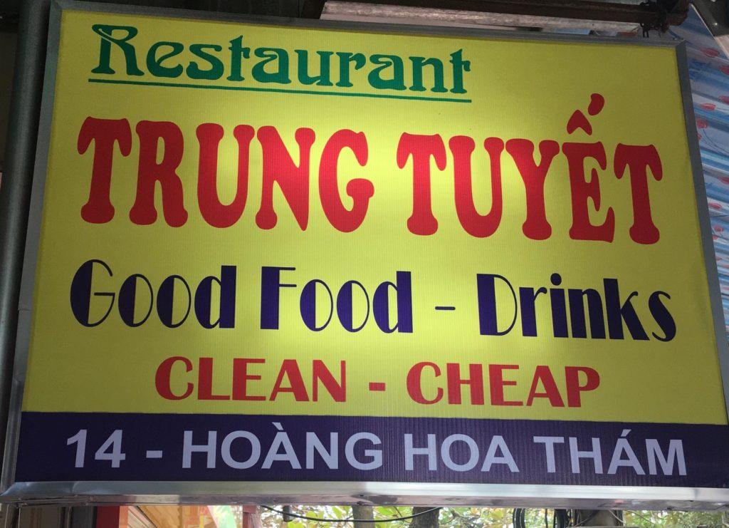 Trung Tuyet Restaurant - Ninh Binh Tourist center Vietnam